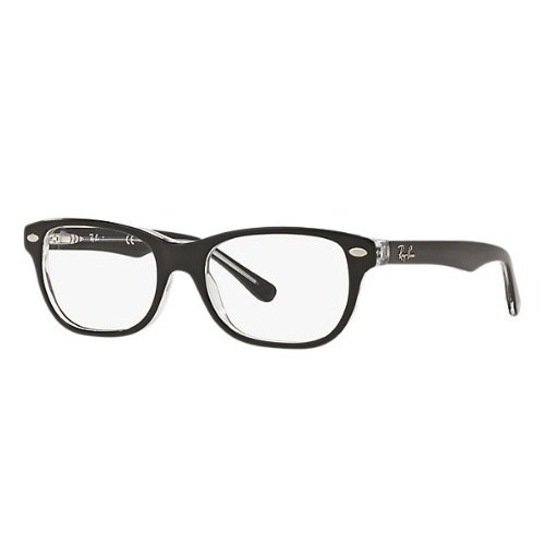 ceeeb4f0b17 Male New Wayfarer Junior Clear Lens Ray-Ban Eyeglasses