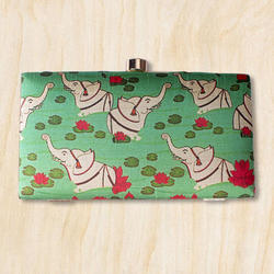 Rectangle Printed Box Clutch Bag