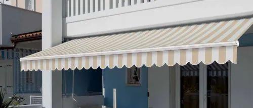 Retractable Striped Awning, रिट्रक्टेबले ऑनिंग - Iron Mart ...