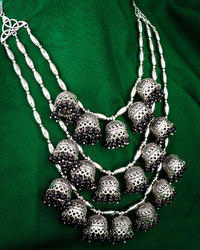 PR Fashion New Oxidise Heavy Necklace Set