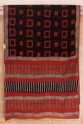 Cotton Bagru Hand Block Printed Sarees