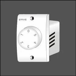 White 5 Step Fan Regulator, 4 Step, for Ceiling Fan