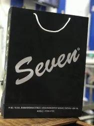 Black Printed Paper Bags