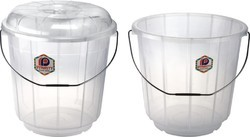 Transparent Plastic Bucket With and Without Lid