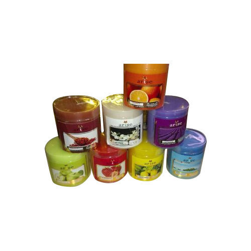 Colored Wax Pillar Candles
