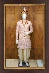 Wedding Wear PINK INDO WESTERN, Size: 40