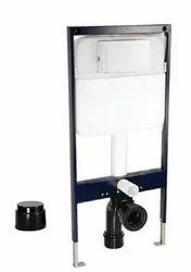 Black N White Single Piece Slim Concealed Cistern Floor Mounting Frame