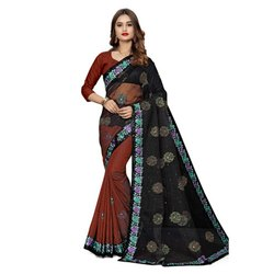Jacquard & Net Saree