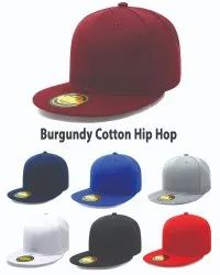 Burgundy Cotton Hip Hop Caps