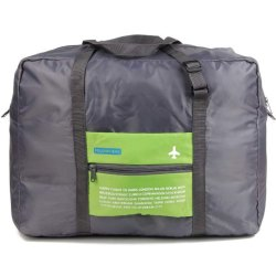 Waterproof Folding Travel Bags - Foldable Reusable Large Carry Tote Bag Trolley Zipper Pouch
