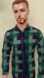In 4-5 Colors MALE Mens Casual Check Shirts, Age: 15-80 Yrs Can Wear