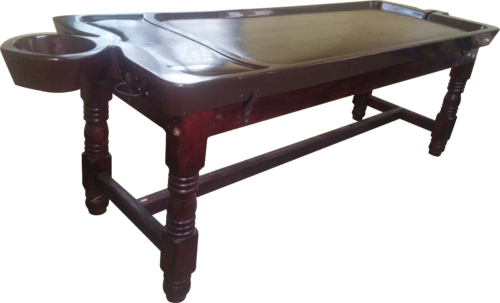 Ayurveda Massage Table (Dhroni FRP With Wooden Stand)