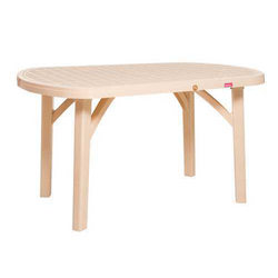 Brown Restaurant Plastic Table, Size: 1430 x 885 x 760 mm