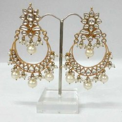 Golden Kundan Bali Earring