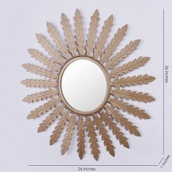 Aleeza金色设计镜,尺寸:26 X 26英寸
