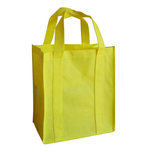 yellow plain cloth shopping bag rs 7 piece green bags id