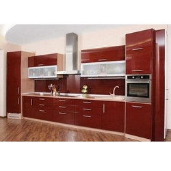 Straight PVC Kitchen Cabinet