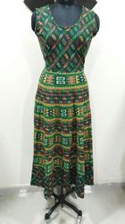 Printed And Plain Multi Colours Ladies One Piece Dress