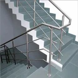 Silver SS Staircase Stainless Steel Railing