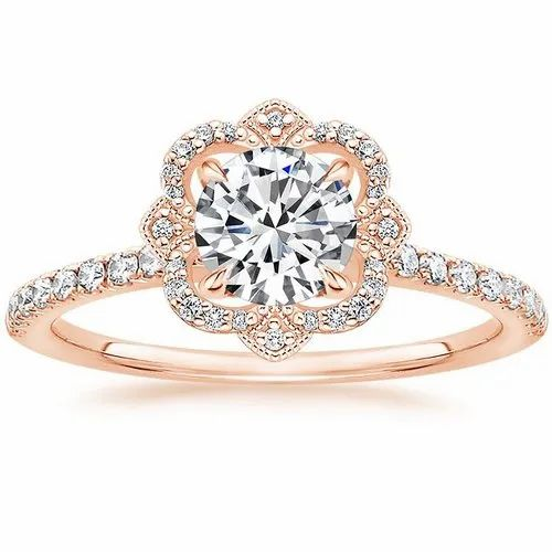 Round Ring Rose Gold Rings Weight 02 10 Gm Size 6 To 15 Rs 7800 Piece Id 21581758633