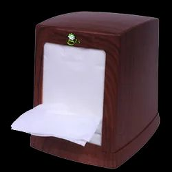 Wooden, Pvc Table Top Tabletop Napkin Dispenser, Dimension/Size: 5x4 Inches