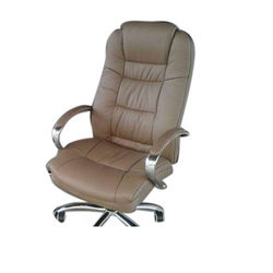 Leather Fixed Arms Office Chair, Height: 3-4 feet