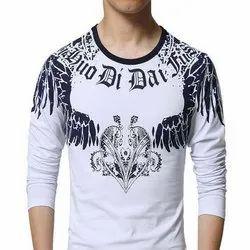 Dressing-Hub Full Sleeve Mens Cotton Printed T Shirt