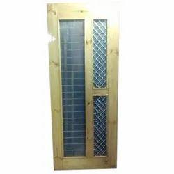 Plain Pine Wood jali Door, Size/Dimension: 8x4 Feet
