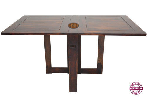 Six Seater Solid Sheesham Wood Folding Dining Table Dimension 157 X 90 X 75 Cm Rs 12990 Piece Id 20420958791