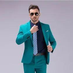 Plain Lotus Fabric Mens Formal Blazer with Pants Suit, Size: 32-42
