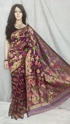 Weaving Work Party Wear Traditional Jamdani Saree