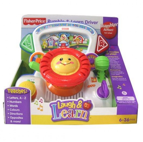 ac3e489d5c Multicolor Fisher Price Laugh , Learn Rumble And Learn Driver Toy ...