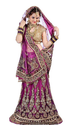 Mulberry Violet Lehenga With Kundan Studded