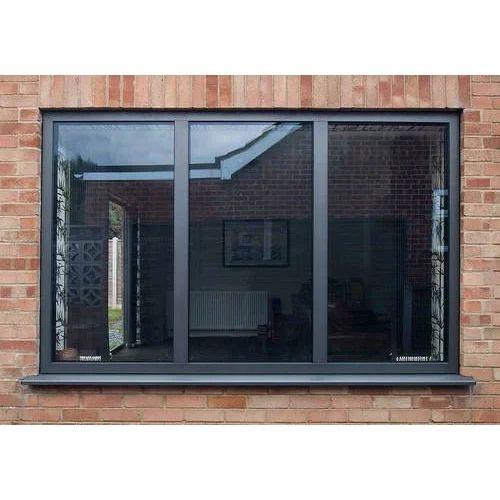 black aluminum windows glass black aluminum sliding window at rs 250 square feet dhebar road
