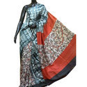 Party Wear Designer Pure Silk Dye Block Printed Saree, With Blouse Piece, 6.5 M