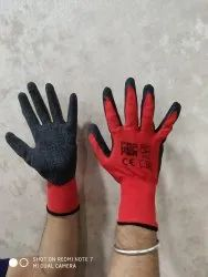 Cut Resistance Red Black Latex Coated Gloves