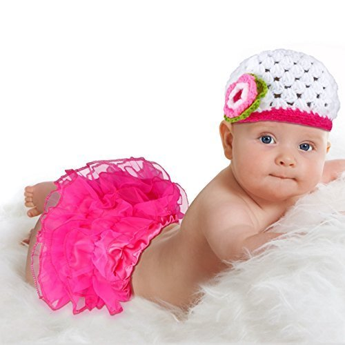 a5360782ea BabyMoon Big Baby And Pink Tutu Skirt With Crochet Hat Princess - Set Of 2