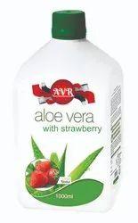 AVR Natural Aloe Vera Strawberry Juice, Packaging Type: Bottle