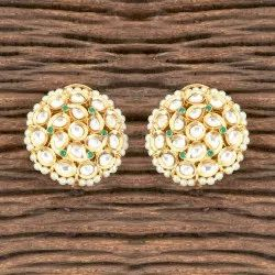 Tops Brass Designer Classic Earring with Gold Plated 350333