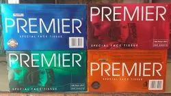 Soft Paper Premier Face Tissue, Packaging Type: Box