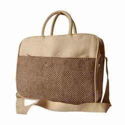 Zipper Brown Executive Jute Bag, Capacity: 2-5 Liter
