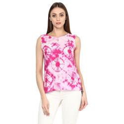 Cotton Sleeveless Pink Girls Casual Top