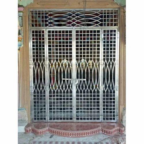Stainless Steel Entry Door At Rs 400 Kilogram Ss Door Nav Durga