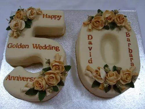 50 number shape cake