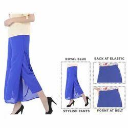 Plain Layered Pants
