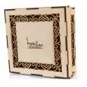 Carving Brown Designer Square Wooden Jewellery Box, For Promotional Gifts, Size: 3.5x8x8inch