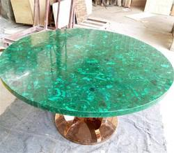 Malachite Brass Table