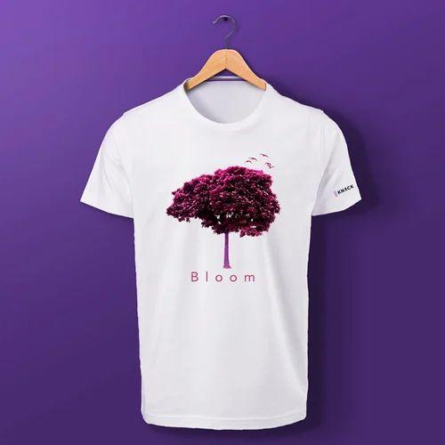 3c061f9d Cotton Tree Print White T Shirt, Rs 549 /piece, Knack Designs ...