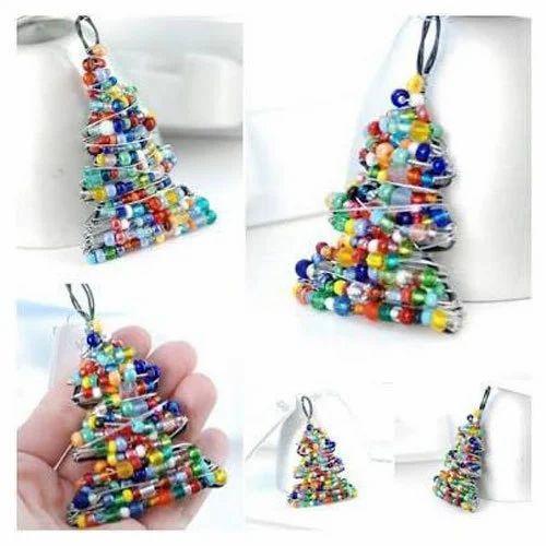 Beaded Christmas Ornaments.Hanging Christmas Ornaments Bead Christmas Ornaments