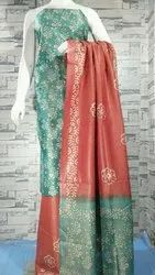 Khadi Cotton Dress Material With Batik Printed Dupatta